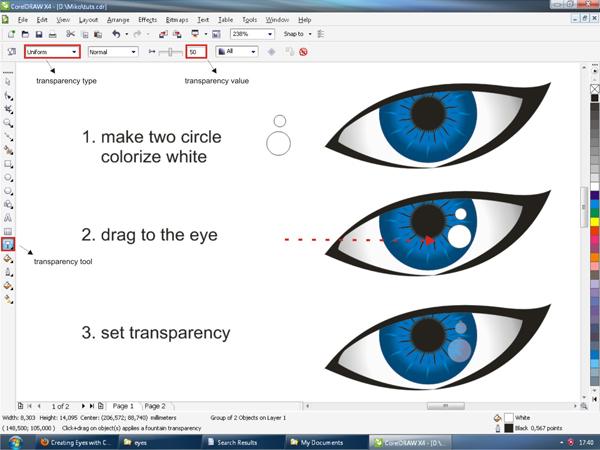 Membuat Vector Mata dengan CorelDraw