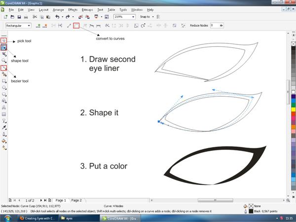 oke sahabat desain kembali lagi degan saya HAPPY hehe tutorial coreldraw keren terbaru 11, x2, x3, x4, x5, x6, x7, x8 membuat bola mata